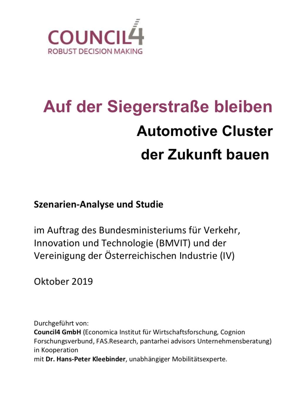 Expert Marketplace - Dr. oec. Hans-Peter Kleebinder - Mobilitätsstudie Republik Österreich