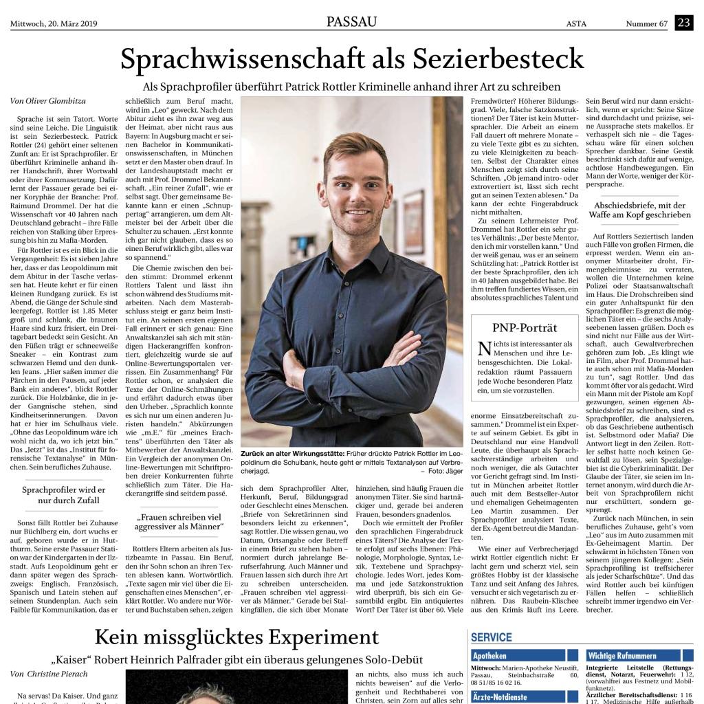 Expert Marketplace -  Patrick Rottler, Sprachprofiler - Impressionen zwei