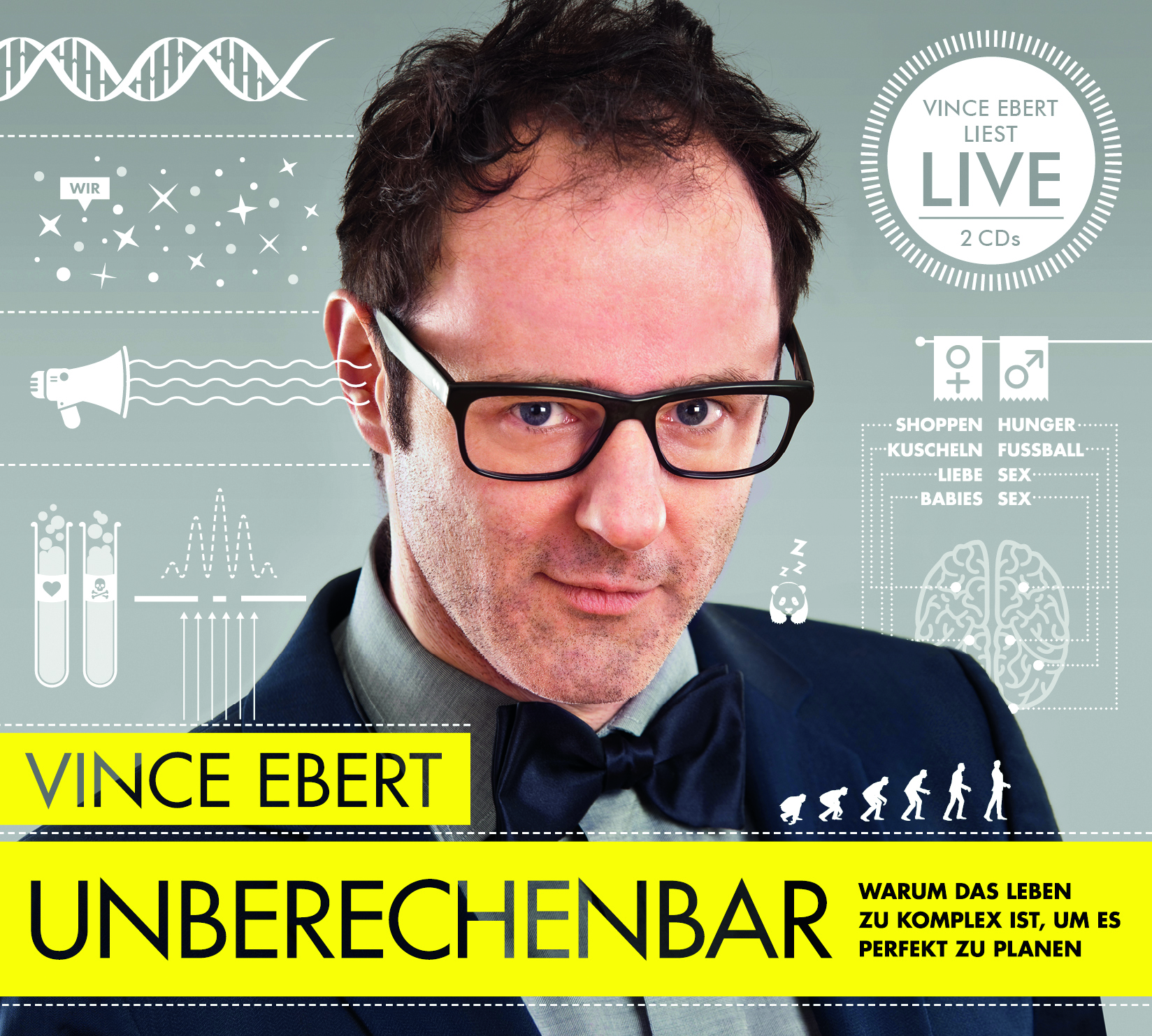 Expert Marketplace -  Vince Ebert  - Hörbuch - Unberechenbar: Warum das Leben zu komplex ist, um es perfekt zu planen