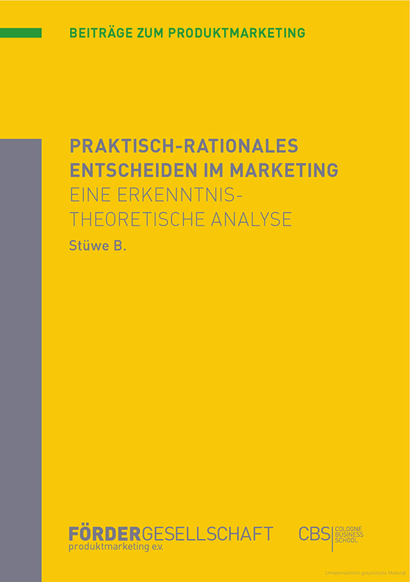 Expert Marketplace - Dr. Björn Stüwe - Praktisch-rationales Entscheiden im Marketing